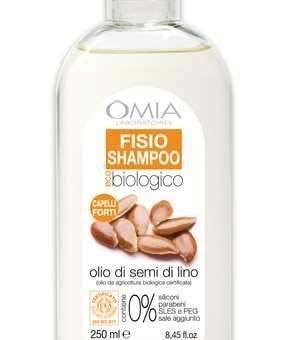 Fisio shampoo biologico all'olio di semi di lino